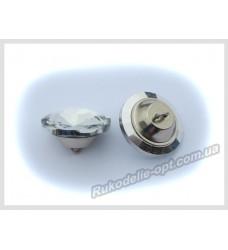 Мебельные пуговицы верх тупой 18 мм цвет crystal 116 шт.