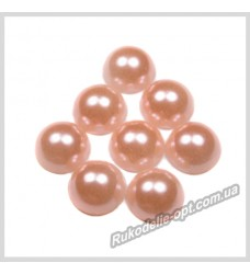 Полубусины из акрила круг персиковые 10 мм.