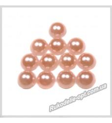 Полубусины из акрила круг персиковые 6 мм.