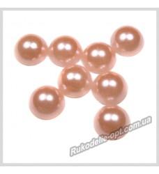 Полубусины из акрила круг персиковые 8 мм.