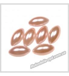 Полубусины из акрила маркиз персиковые 7*15 мм.