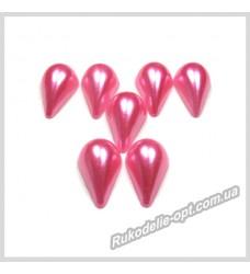 Полубусины из акрила капля розовые 8*13 мм.