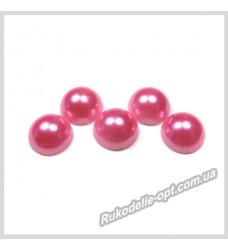 Полубусины из акрила круг розовые 10 мм.