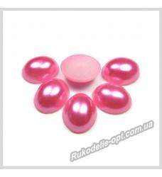 Полубусины из акрила овал розовые 8*10 мм.
