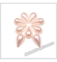 Полубусины из акрила капля светло-розовые 8*13 мм.
