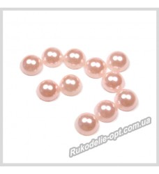 Полубусины из акрила круг светло-розовые 7 мм.