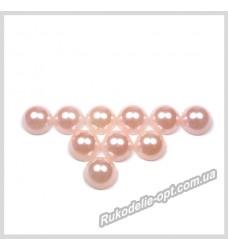 Полубусины акриловые круг светло-розовые 8 мм.