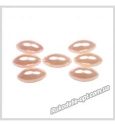 Полубусины из акрила маркиз светло-розовые 7*15 мм.