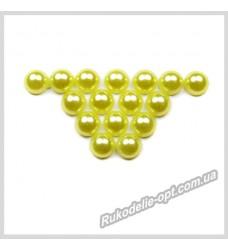 Полубусины из акрила круг желтые 6 мм.