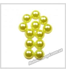 Полубусины из акрила круг желтые 7 мм.