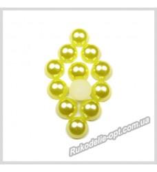 Полубусины акриловые круг желтые 8 мм.
