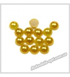 Полубусины акриловые круг золотые 5 мм.