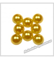 Полубусины акриловые круг золотые 8 мм.