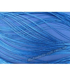 Люрексная нить цвет синий 0,3 мм.