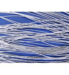 Люрексная нить цвет серебро 0,3 мм.