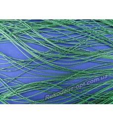 Люрексная нить цвет зеленый 0,3 мм.