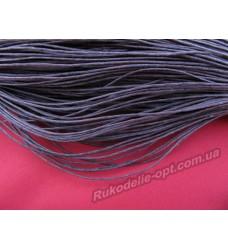 Вощеный шнур коричневый 1 мм.