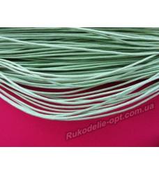 Вощеный шнур салатовый 1,5 мм.