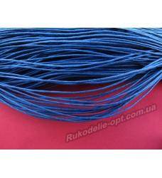 Шнур вощеный 1 мм. синий в рулоне 400 м.