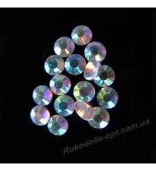 Дешевые стразы из пластика SS 16 crystal AB