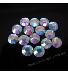 Стразы пластиковые SS 34 цвет crystal AB 2000 шт.