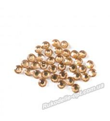 Стразы пластиковые SS 30 цвет золото 4000 шт.