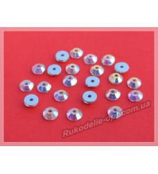 Стразы стеклянные пришивные SS 20 цвет crystal AB