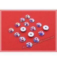 Стразы стеклянные пришивные SS 30 цвет crystal AB