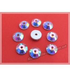 Стразы стеклянные пришивные SS 40 цвет crystal AB