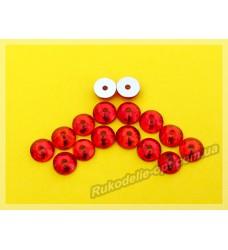 Стразы стеклянные пришивные SS 30 цвет темно красный